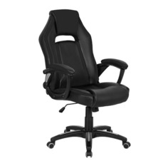 Кресло игровое БЮРОКРАТ CH-829, на колесиках, искусственная кожа, черный [ch-829/bl+black]