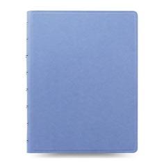 Тетрадь Filofax SAFFIANO A5 PU 56л линейка съемные листы спираль двойная голубой