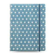 Тетрадь Filofax Impressions A5 56л линейка съемные листы спираль двойная синий/белый