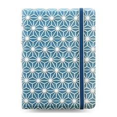 Тетрадь Filofax Impressions Pocket 105x144мм 56л линейка съемные листы спираль двойная синий/белый