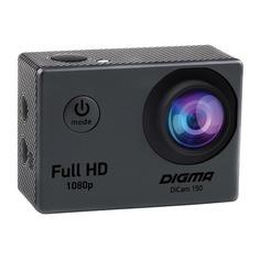 Экшн-камера DIGMA DiCam 150 1080p, серый [dc150]