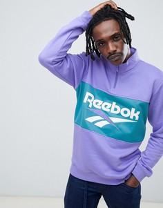 Фиолетовый свитшот на молнии Reebook Classics DX3887 - Фиолетовый Reebok