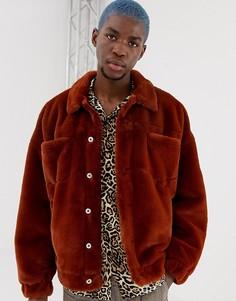 Куртка из искусственного меха в стиле вестерн COLLUSION - Коричневый