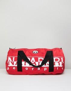 Красная складывающаяся сумка Napapijri Bering 1 - Красный