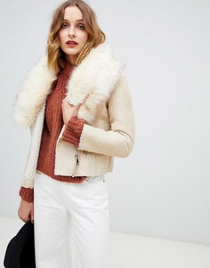 Куртка с меховым воротником Barneys Originals - Бежевый