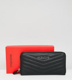 Черный кошелек на молнии Valentino by Mario Valentino - Черный