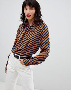 Блузка в полоску с завязкой Vero Moda - Мульти