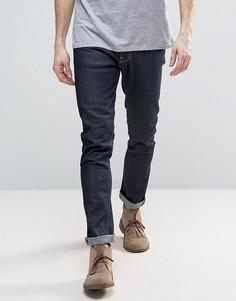 Синие суженные книзу узкие джинсы с 16-этапным окрашиванием Nudie Jeans Lean Dean - Темно-синий