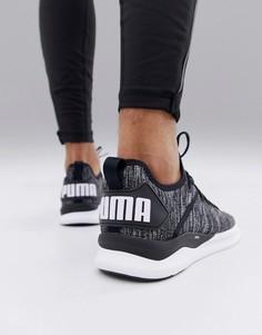 Черные трикотажные кроссовки Puma Training Ignite Flash 190508-02 - Черный