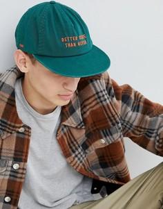 Зеленая кепка с вышивкой Globe - Зеленый