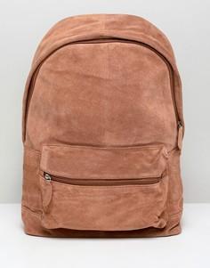 Светло-коричневый замшевый рюкзак ASOS DESIGN - Рыжий