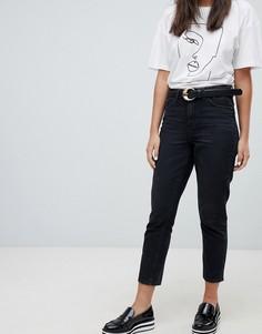 Джинсы в винтажном стиле с завышенной талией Only - Черный