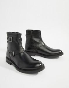 Черные байкерские ботинки Base London Ortiz - Черный