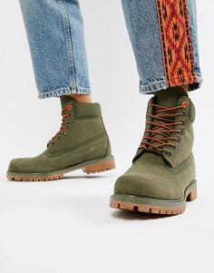 Ботинки цвета хаки высотой 6 дюймов Timberland - Зеленый