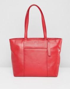 Кожаная сумка-тоут Paul Costelloe - Красный
