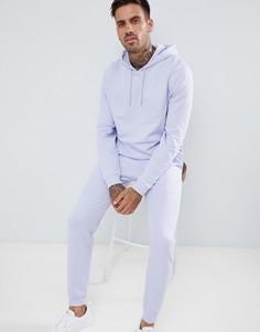 Спортивный костюм из джоггеров скинни и oversize-худи ASOS DESIGN - Фиолетовый