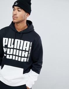 Худи черного цвета без застежки с логотипом Puma - Черный