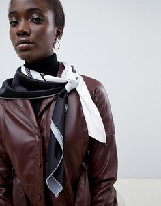 Большой квадратный платок на голову/шею с принтом ASOS DESIGN - Мульти