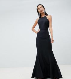 Черное платье макси с открытой спиной Jarlo Tall - Черный