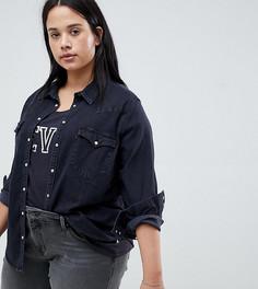 Джинсовая рубашка в стиле вестерн Levis Plus - Черный