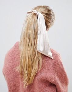 Повязка на голову персикового цвета ASOS DESIGN - Розовый