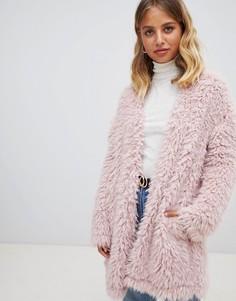 Пушистый кардиган New Look - Розовый