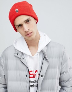 Красная шапка-бини с нашивкой Globe - Красный