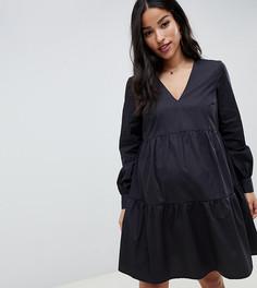 Свободное хлопковое платье мини ASOS DESIGN Maternity - Черный