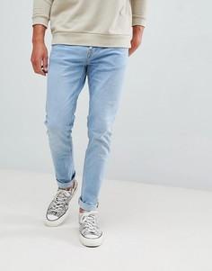 Голубые джинсы скинни Bershka - Синий