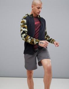 Худи черного цвета с камуфляжным принтом Nike Training Dry AQ1138-011 - Черный