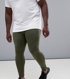 Беговые тайтсы цвета хаки ASOS 4505 Plus - Зеленый
