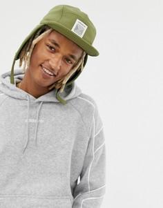 Шапка-ушанка цвета хаки adidas Originals - Зеленый