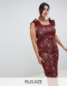Свободное кружевное платье Coast Plus - Красный