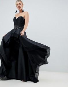 Платье бандо Jovani - Черный