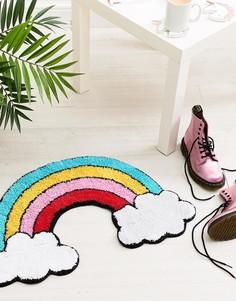 Коврик с дизайном радуги и облака Sass & Belle Patches & Pins - Мульти