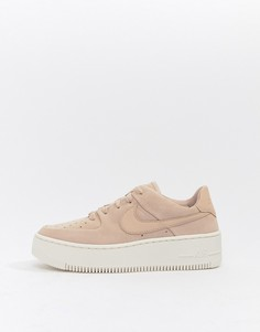 Кроссовки Nike Pink Air Force 1 Sage - Розовый