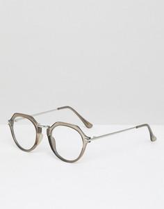 Круглые очки ASOS DESIGN - Серый