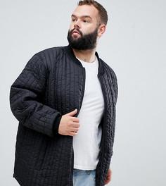 Черная стеганая куртка Replika Plus - Черный