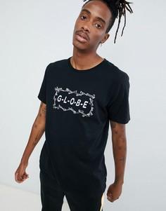 Черная футболка с принтом логотипа Globe Bone - Черный