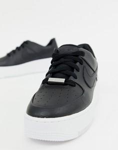 Черные кроссовки Nike Air Force - Черный
