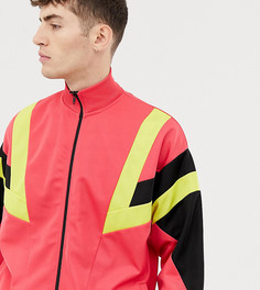 Розовая спортивная oversize-куртка в стиле колор блок COLLUSION - Розовый
