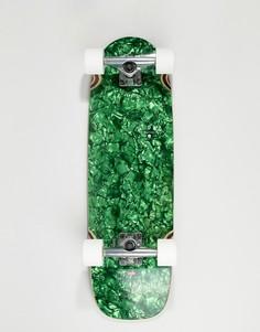 Зеленый перламутровый скейтборд Globe Outsider - 8,25 дюйма - Зеленый
