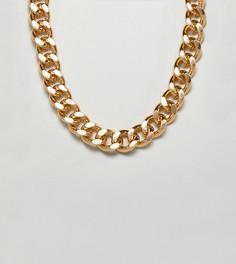 Золотистое ожерелье-цепочка Glamorous - Золотой