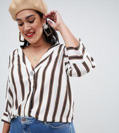Рубашка на пуговицах в полоску New Look Curve - Белый