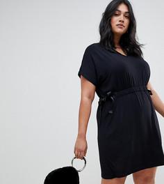 Платье с завязкой на талии Koko - Черный