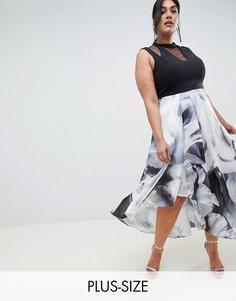 Монохромное платье Coast Plus Riona - Черный