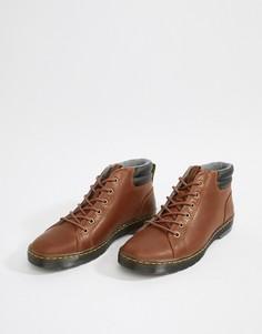 Светло-коричневые ботинки с 6 парами люверсов Dr Martens Plaza - Рыжий