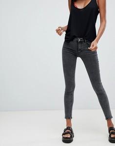 Серые джинсы с заниженной талией Pull&Вear - Серый Pull&;Bear