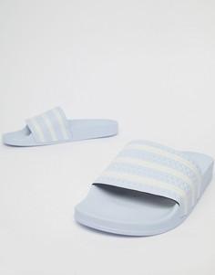 Голубые шлепанцы adidas Originals Adilette B41546 - Синий