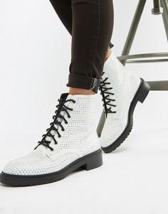 Ботинки на шнуровке ASOS DESIGN - Серебряный